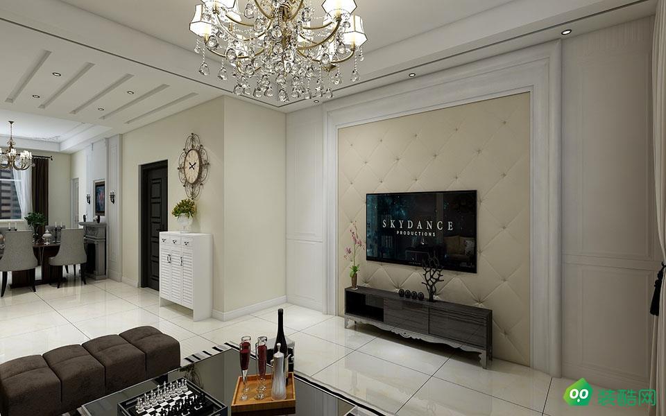 江津127平米歐式風格三室一廳裝修效果圖-順林裝飾