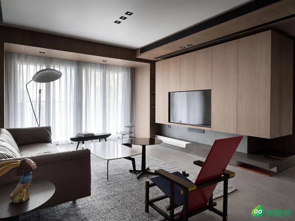 青島120平米現代風格三室兩廳裝修案例圖片