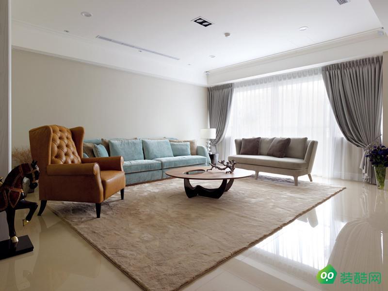 青島89平米三居室現代風格裝修案例圖片