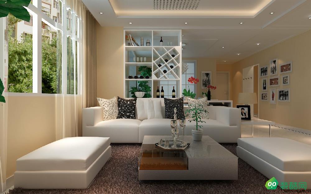 開封94平米簡約現代風格兩室兩廳裝修效果圖-鼎典裝飾