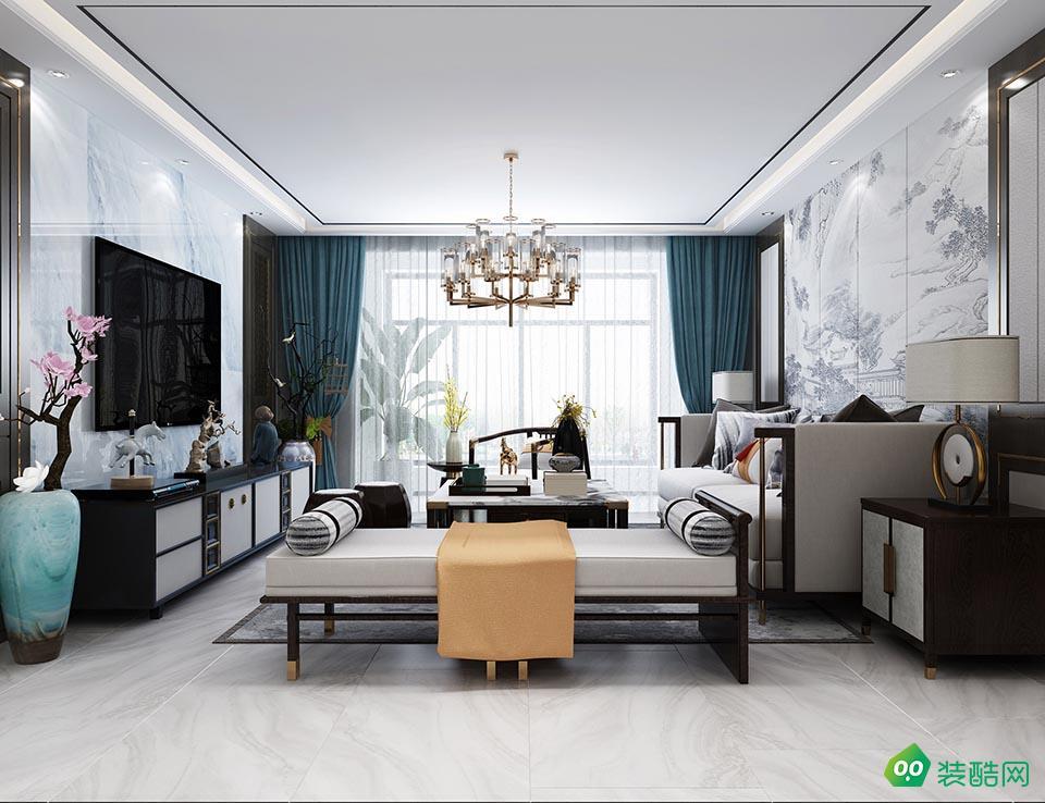 大足130平米中式風格三室兩廳裝修效果圖-本色裝飾