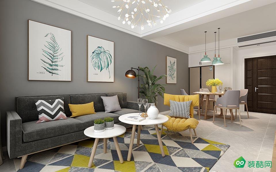 大足140平米北歐風格三室兩廳裝修效果圖-本色裝飾