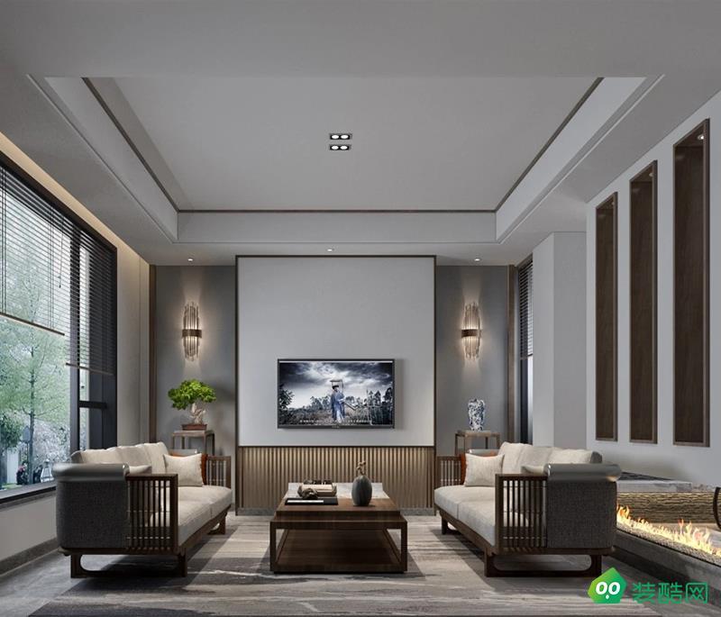 雍景王府別墅新中式風格家裝設計戶型案例