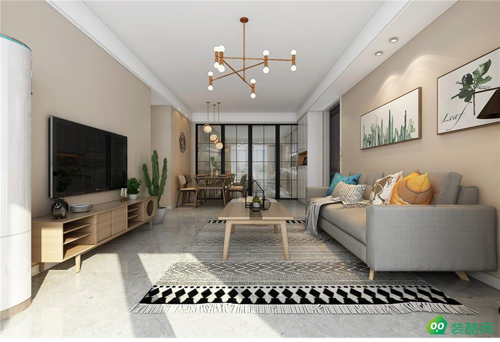香樹花城、簡約、110平米、三室兩廳