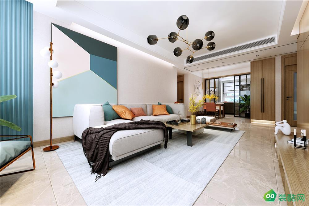 鹽城118平米現代簡約風格三室兩廳裝修案例圖片