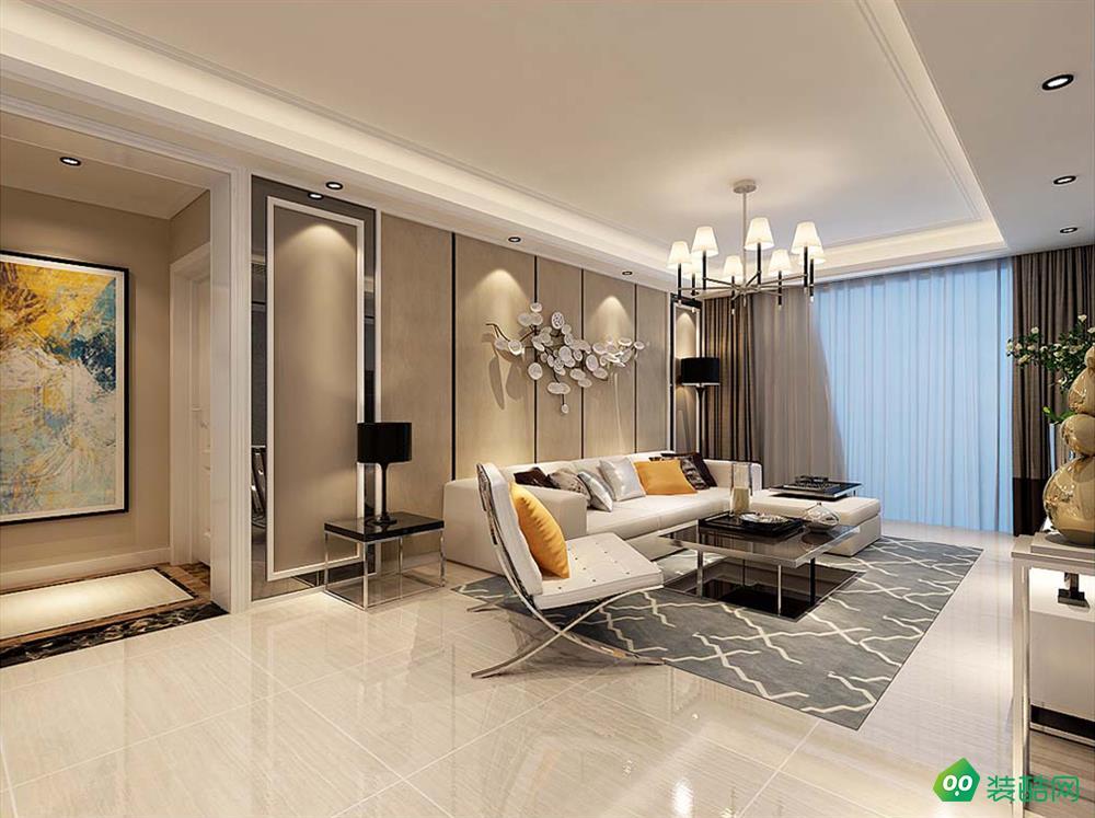 鹽城112平米現代簡約風格三室兩廳裝修案例圖片