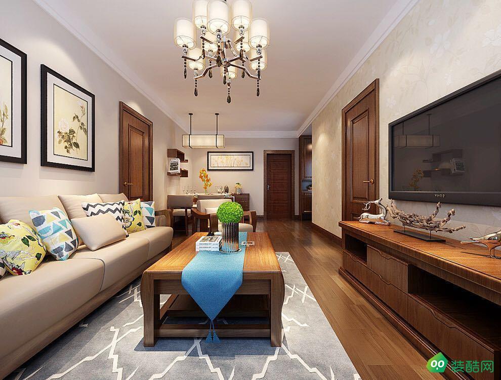 鹽城128平米現代簡約風格三室兩廳裝修案例圖片