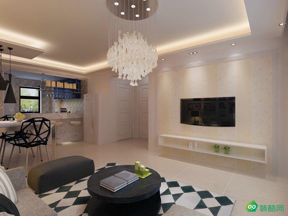 大連70平米現代簡約風格兩居室裝修案例圖片