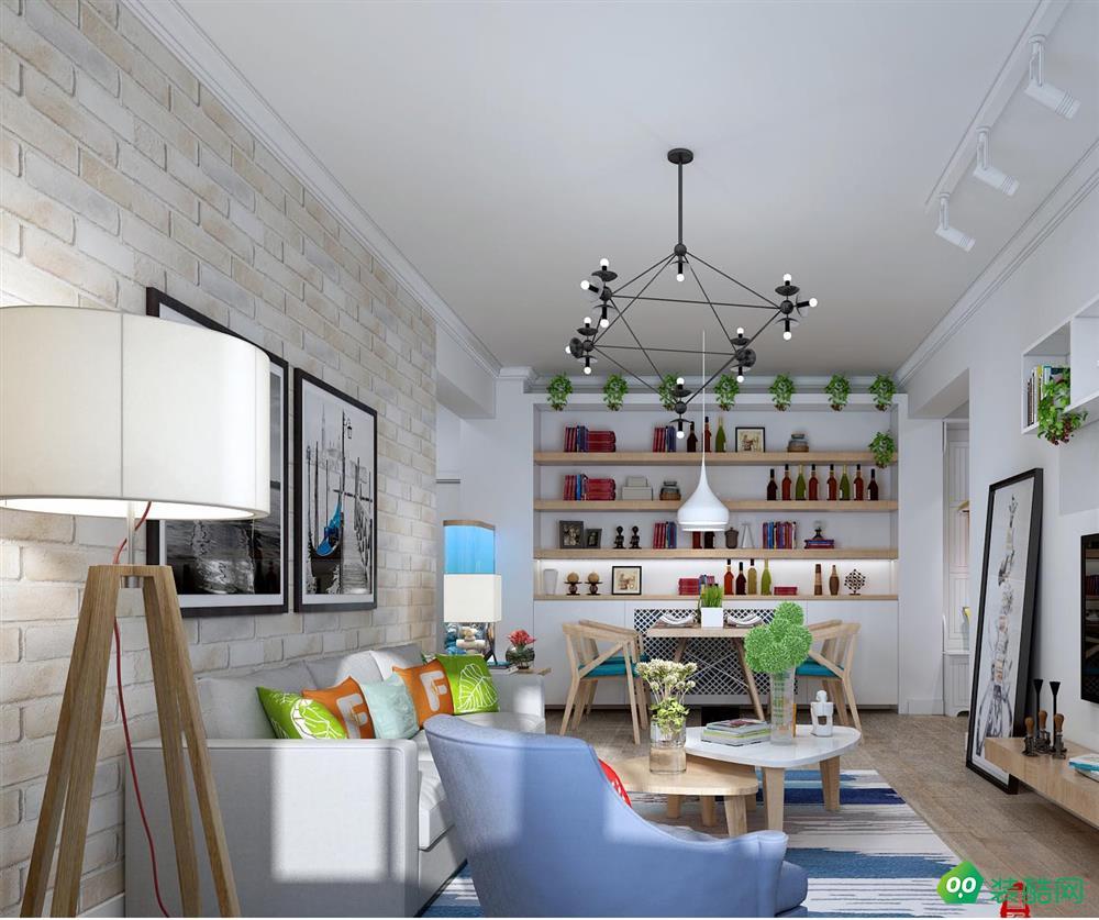 大連83平米現代簡約風格兩居室裝修案例圖片