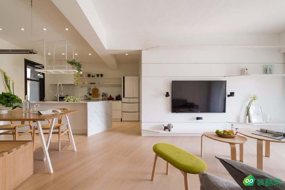 南寧120平米日式風格三室一廳裝修效果圖-昌隆翔裝飾