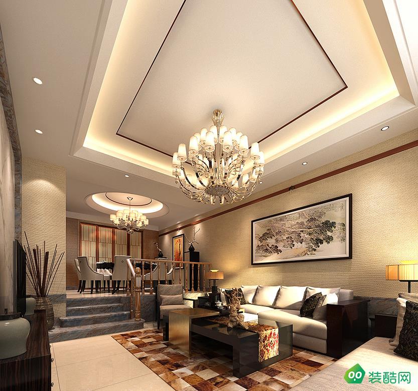 鹽城160平米中式古典三室兩廳裝修案例圖片