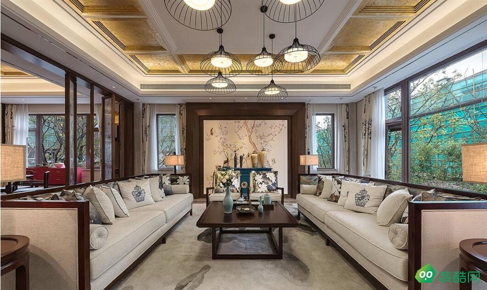 鹽城150平米中式古典風格三居室裝修案例圖片