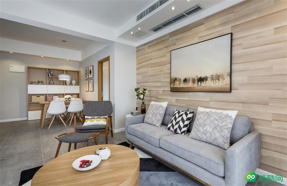 南寧84平米現代簡約風格兩室一廳裝修效果圖-眾繪裝飾