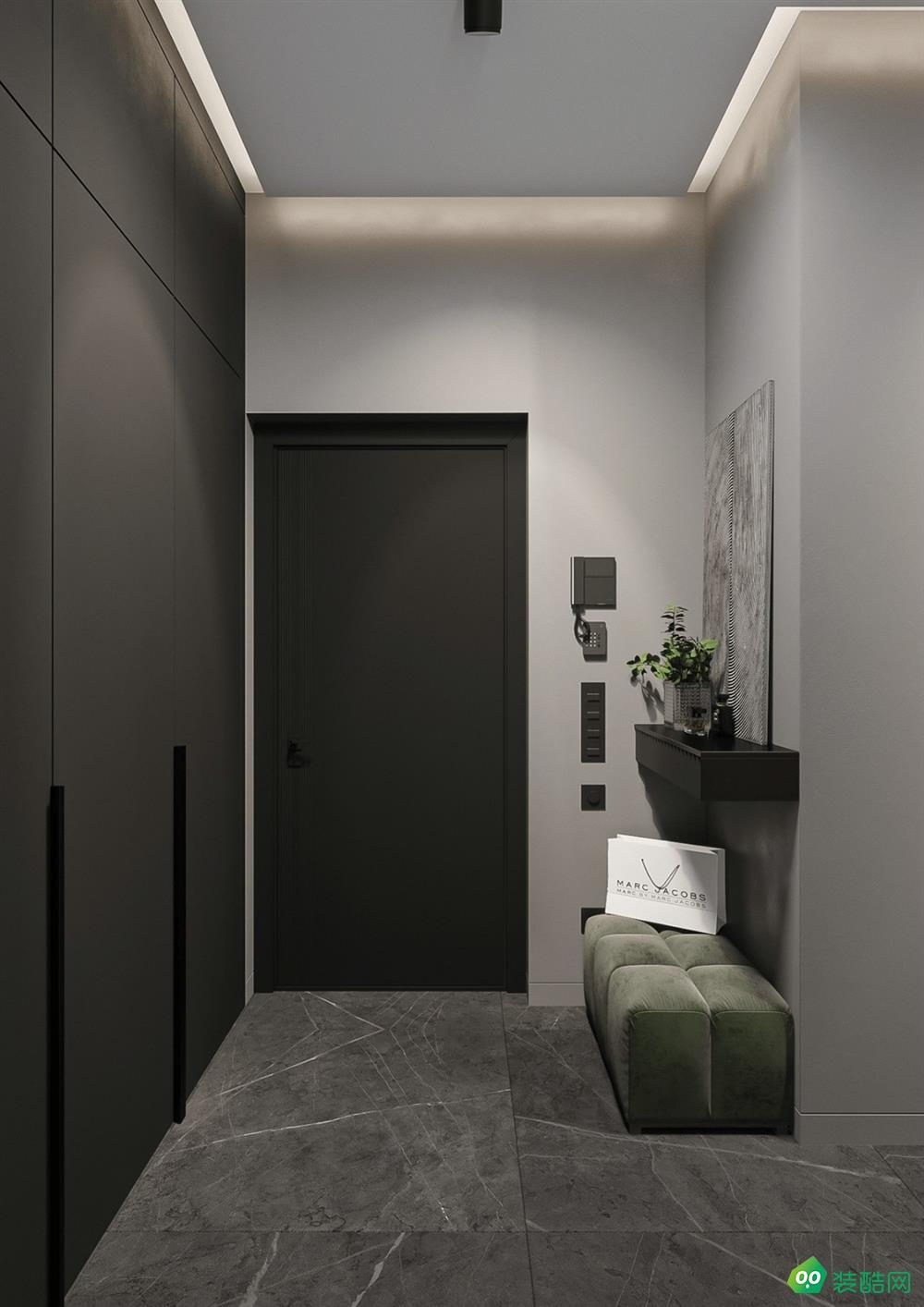 貴陽-88平米一室一廳一衛裝修效果圖