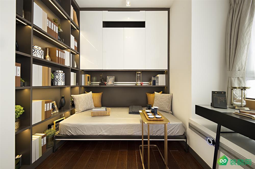 泉州——89m2现代三居书房装修效果图