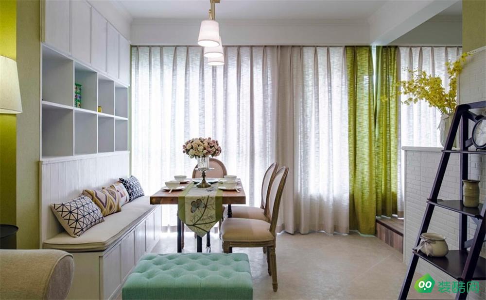 南寧112平米田園風格三室一廳裝修效果圖-漢星裝飾