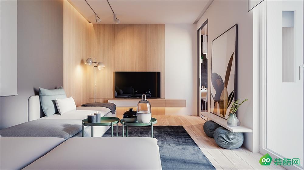 南寧84平米現代風格兩室兩廳裝修效果圖-漢星裝飾