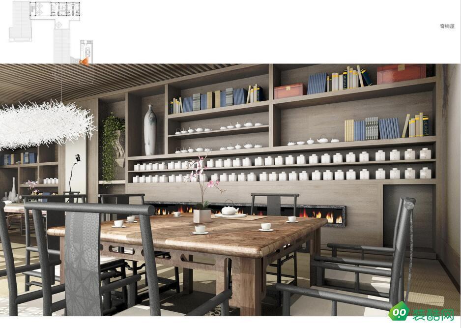 新中式酒店咖啡厅装修效果图