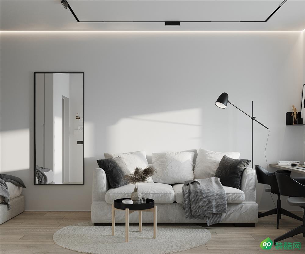 贵阳——55平米小户型一居室客厅装修效果图