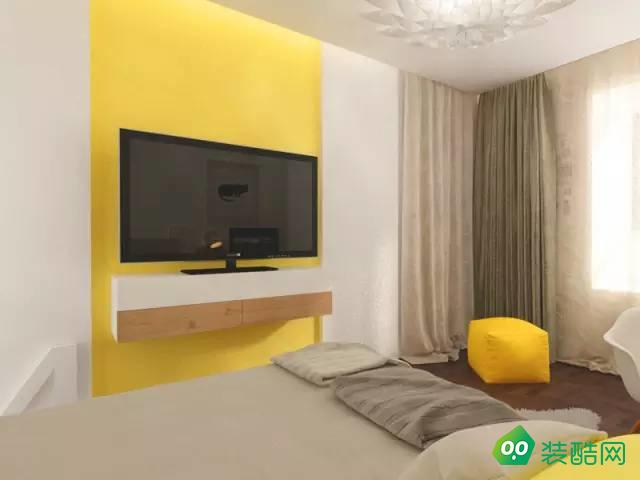 苏州虹景湾70平方2室一厅卧室电视墙设计效果图