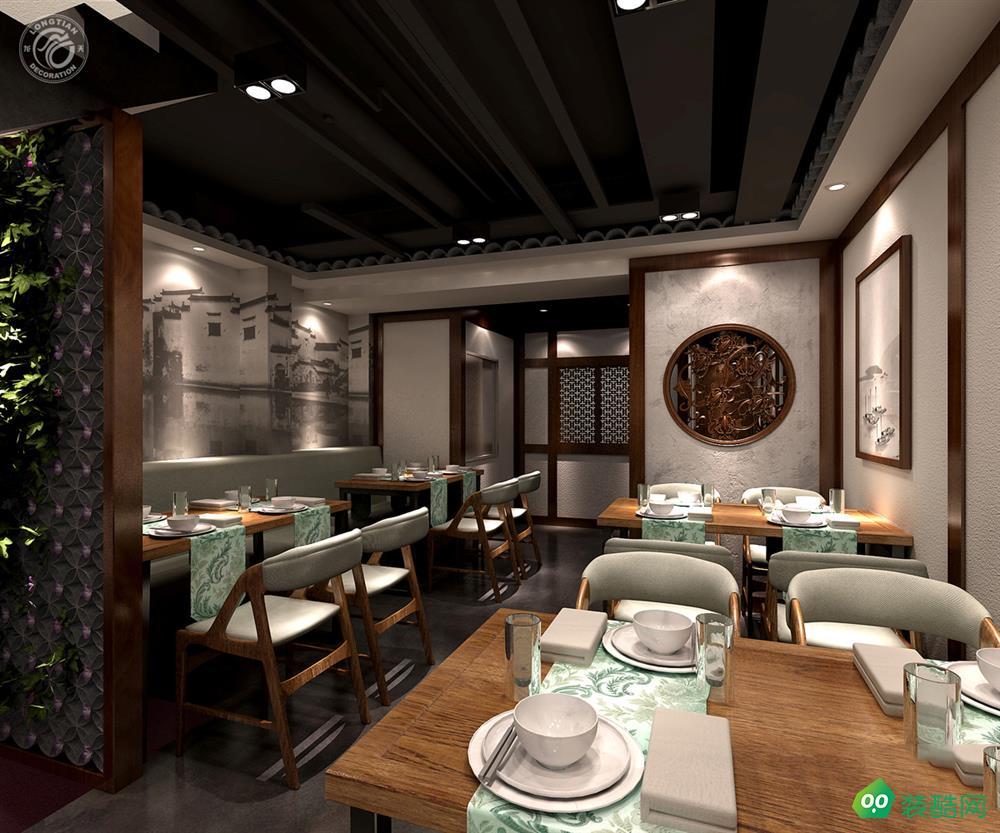 高端中式餐廳設計效果圖