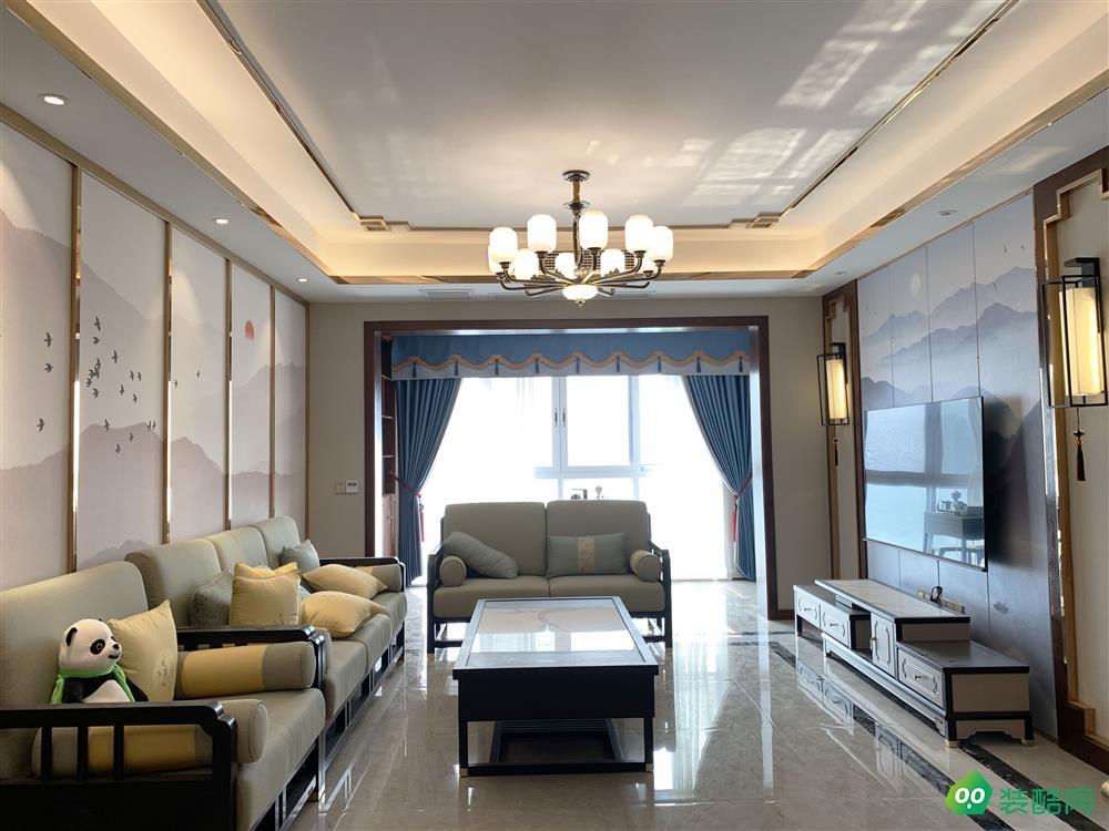 江津115平米輕奢新中式風格三室一廳一衛