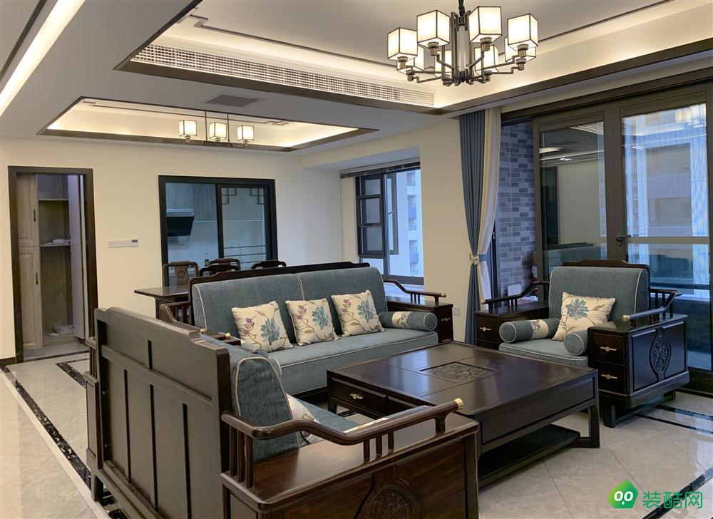 江津130平米新中式風格三室兩廳兩衛裝修實景圖-家裝e站