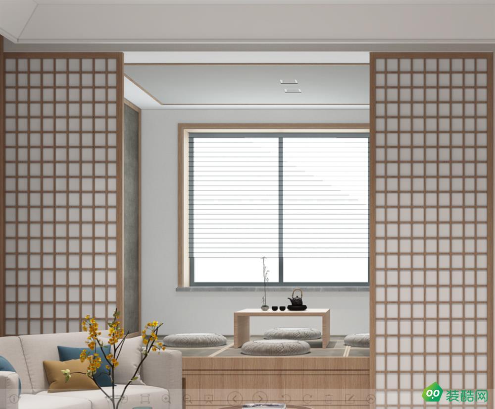 400平日式純木風格裝修案例-南通二十二號裝飾