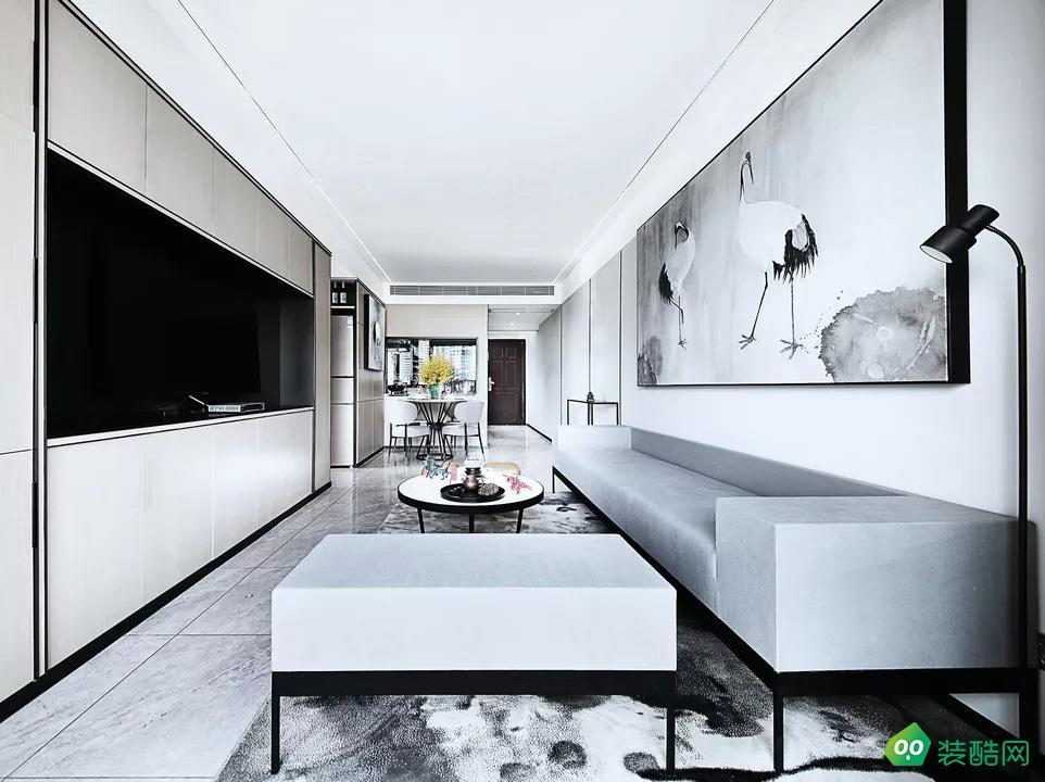 南昌萬達城四房新中式家裝設計效果圖