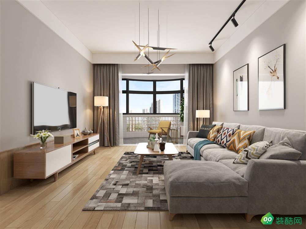 瀘州113平米北歐風格兩居室裝修案例圖片