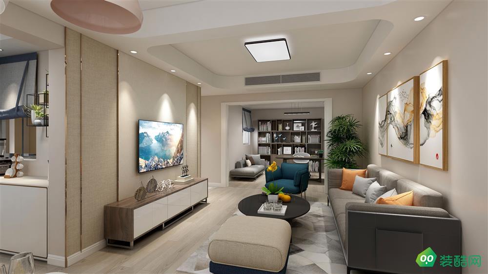 瀘州150平米現代簡約風格三室兩廳裝修案例圖片
