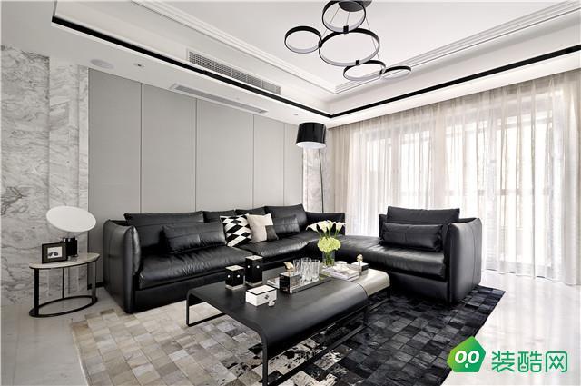 160㎡四居室 經典時尚黑白元素