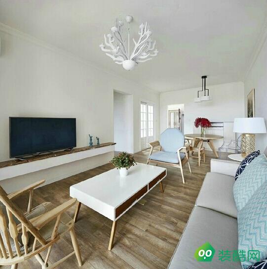 貴陽95平米北歐風格兩室一廳裝修效果圖-永建家裝飾
