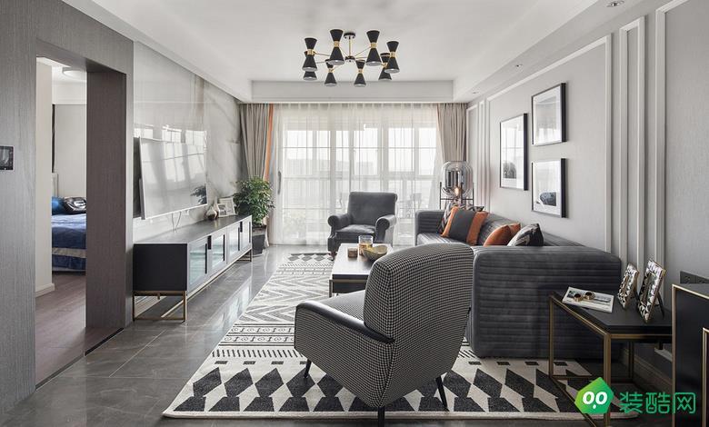 貴陽117平米美式風格三室兩廳裝修效果圖-永建家裝飾