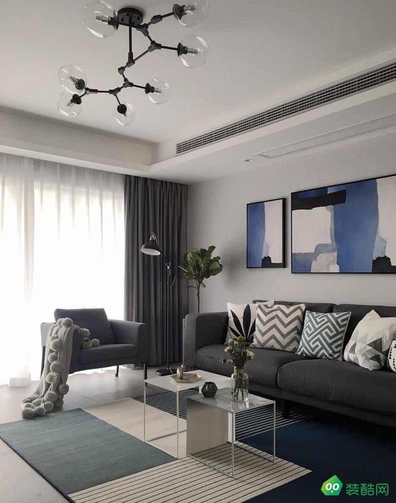貴陽98平米北歐風格兩室兩廳裝修效果圖-永建家裝飾