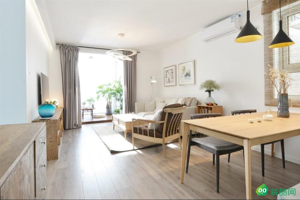 江津87平米日式風格兩室兩廳裝修效果圖-品博裝飾