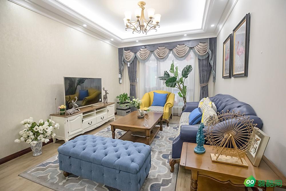 成都92平米歐式風格兩居室裝修案例圖片