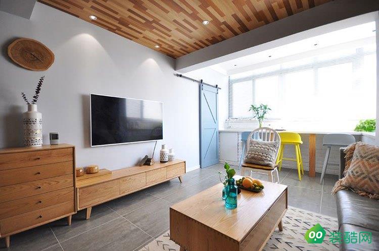 青島106平米歐式風格三室一廳裝修案例圖片