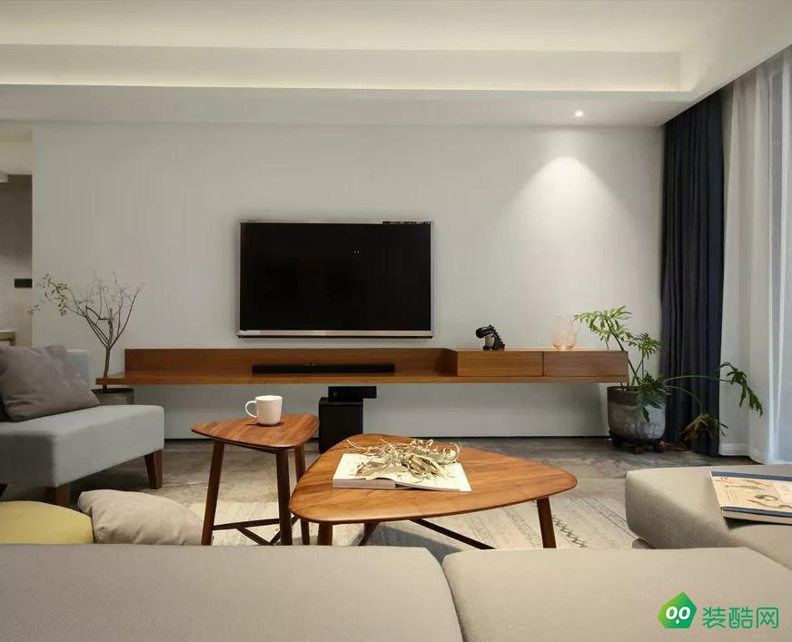 紅谷中央花園三房溫馨現代風格案例家裝裝修設計