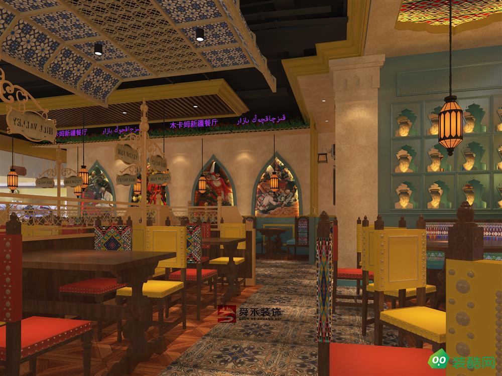 济南特色风格餐厅中餐厅装修设计公司