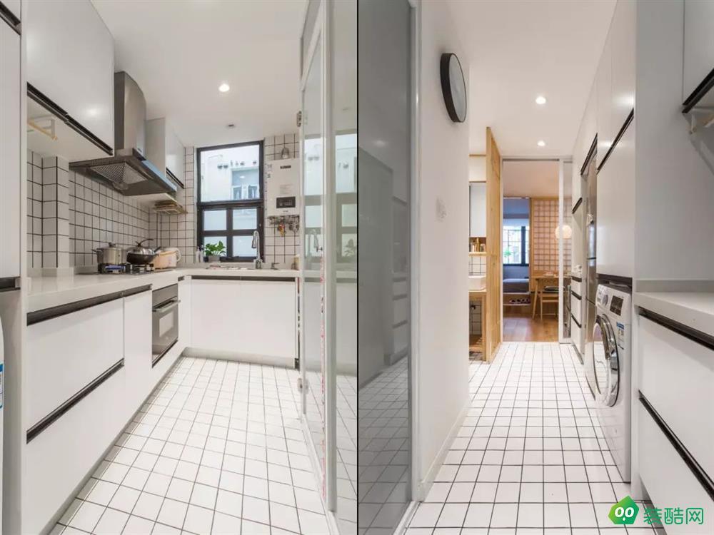 43平长条形日式公寓,把餐厅和卧室相结合,多出一间儿童房