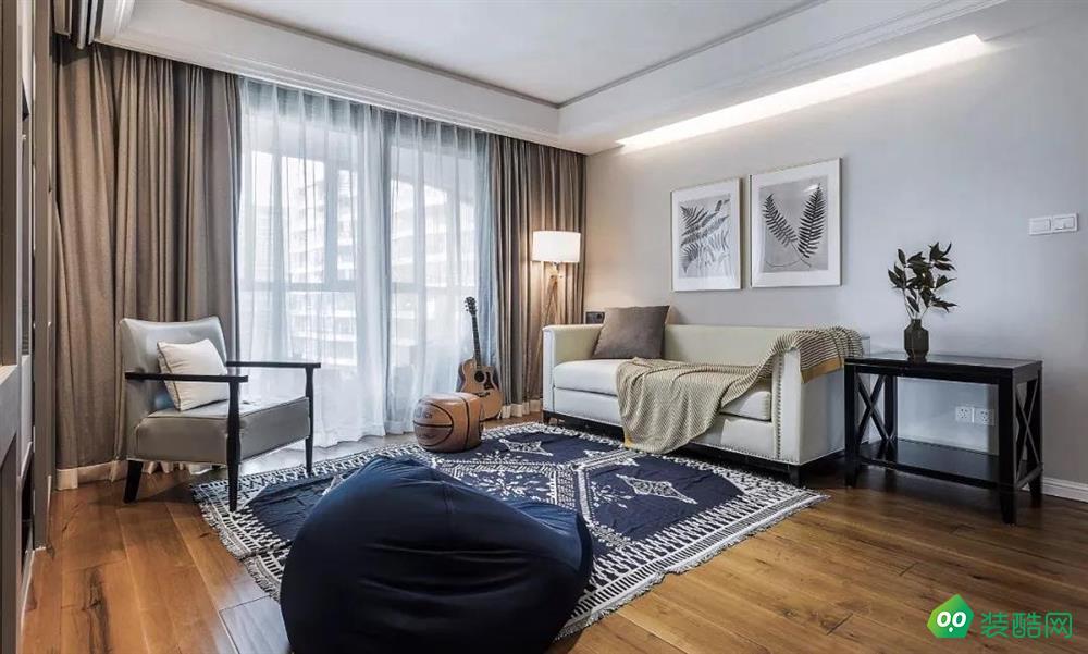 深圳紅杉樹裝飾-145平琨瑜府三居室簡約風格