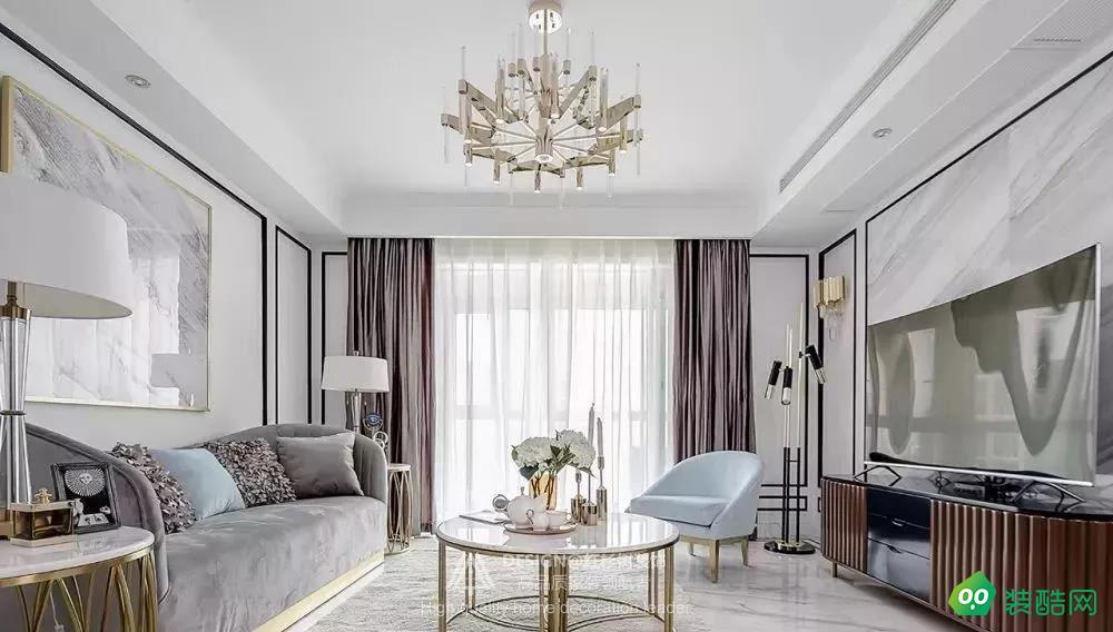 深圳紅杉樹裝飾-127㎡福星華府簡約三居室裝修案例