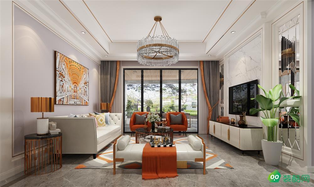 宜賓三居室裝修-115平米美式風格裝修