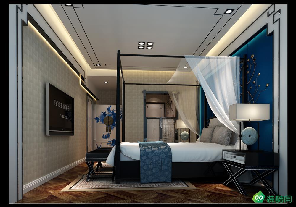 宜賓三居室裝修-120平米新中式風格裝修
