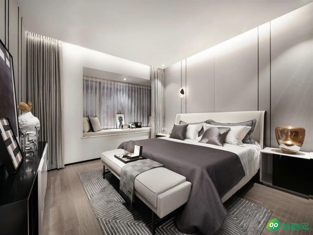 宜賓三居室裝修-108平米極簡風格裝修