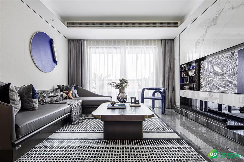宜賓三居室裝修-110平米輕奢風格裝修