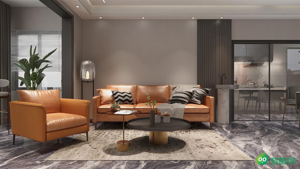 宜賓三居室裝修-110平米新中式風格裝修