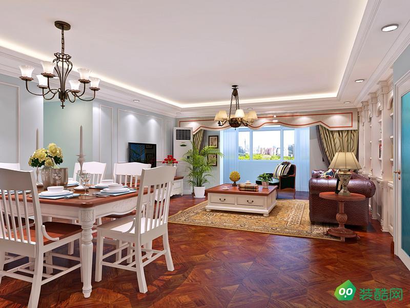 【八天裝飾】三居室簡約美式風格案例