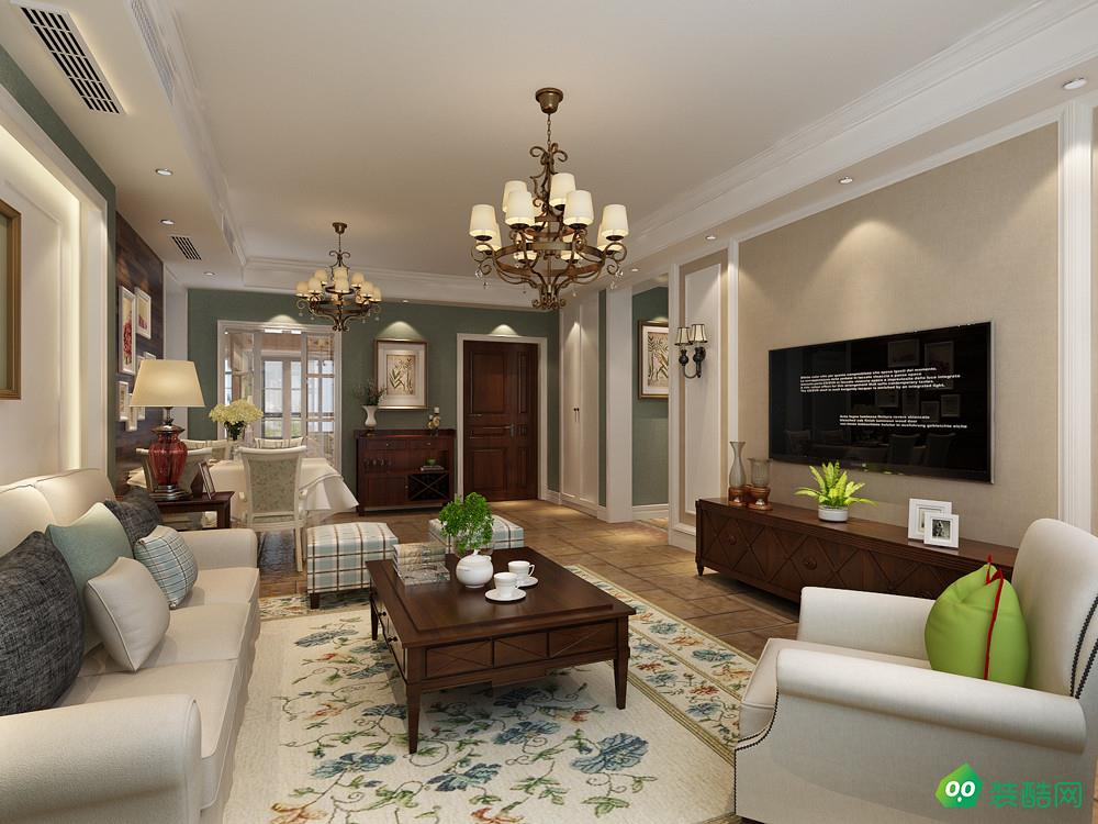 郴州簡約美式三居室140平裝修案例